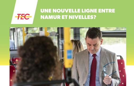 Une nouvelle ligne de bus express entre Namur et Nivelles ?