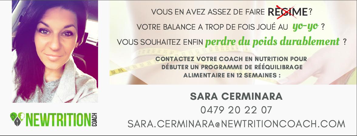 Sara Cerminara, votre coach en nutrition sur la région de Waterloo et Braine l'Alleud !