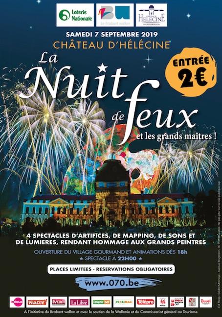 La Nuit de Feux au Château d'Hélécine 2019