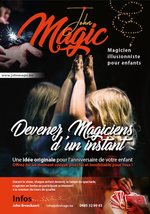 Un magicien pour vos animations en Brabant wallon ? JOHN MAGIC !