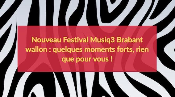 "Les Festivals de Wallonie Festival Musiq3 Brabant Wallon ""Diversity"""