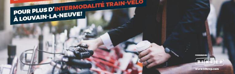 Mobilité à Louvain-La-Neuve : Pour plus d'intermodalité train-vélo à Louvain-La-Neuve !