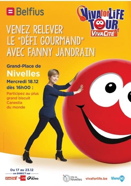 """Nivelles : Le plus grand Canestia du monde, le """"défi gourmand"""" avec Fanny JANDRAIN."""