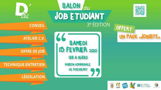 Rixensart : Salon du job étudiant 2020