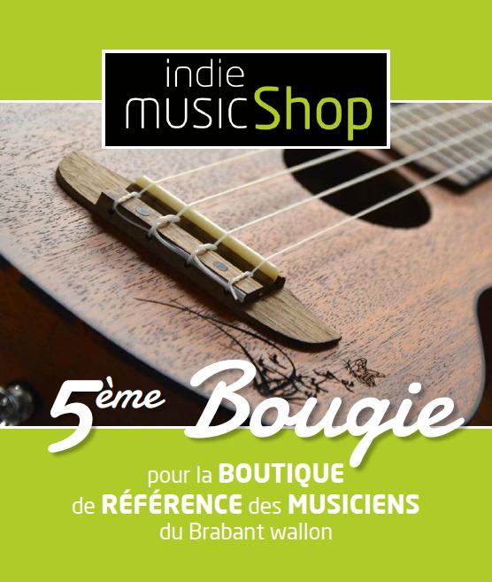 5ème bougie pour la boutique de référence des musiciens du Brabant wallon.