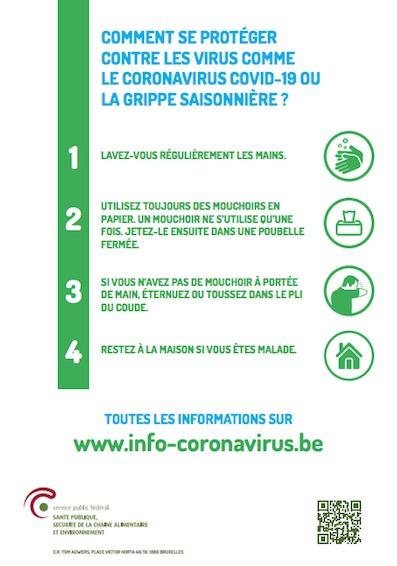 Coronavirus COVID-19 : Que puis-je faire pour ma santé