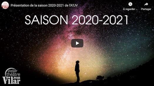Atelier théâtre Jean Vilar : La saison 2020-2021 est ouverte !