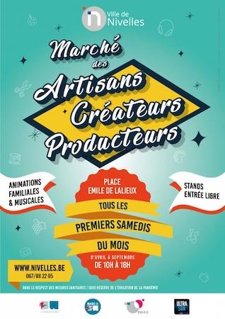 Nivelles | Marché des artisans | créateurs | producteurs