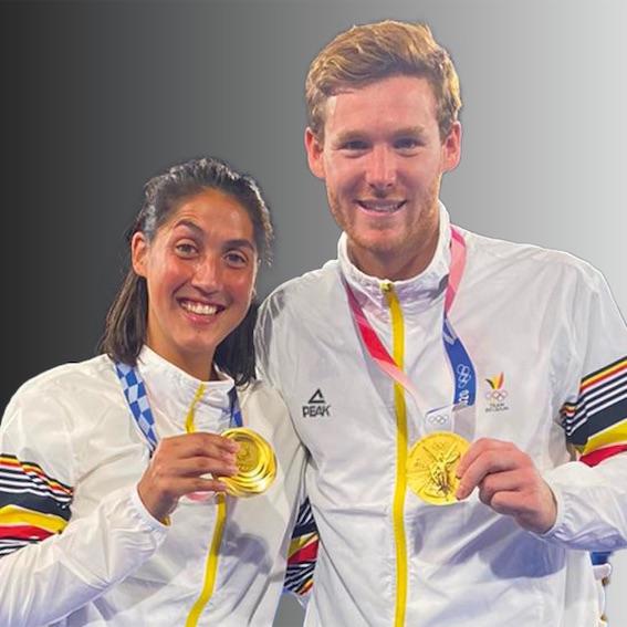 Emily Calderon et Gauthier Boccard, Ambassadeurs sportifs de Waterloo