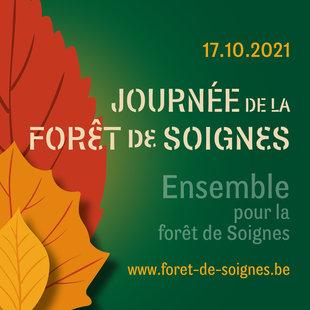 Journée de la Forêt de Soignes à la porte d'accès du Domaine Régional Solvay