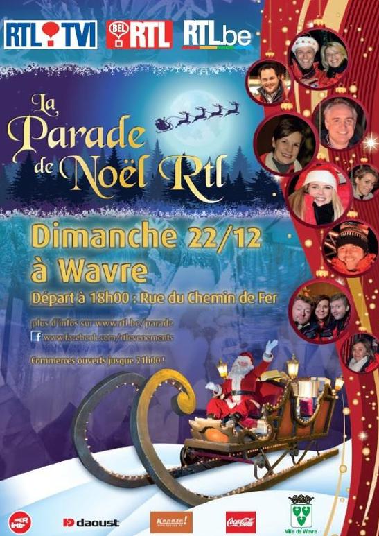 La parade de noël RTL sera à Wavre !