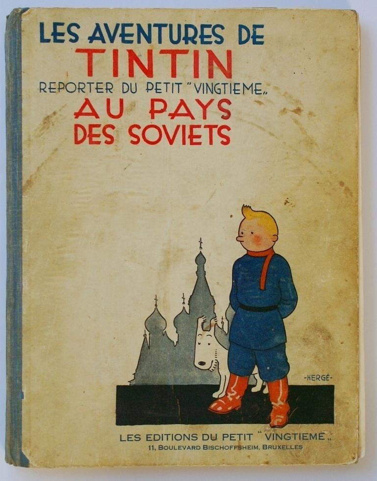Couverture Tintin au Pays des Soviets.