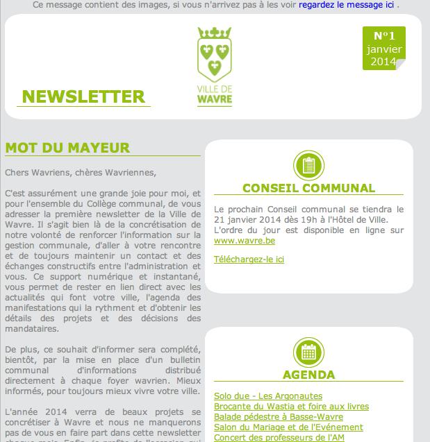 La ville de Wavre vous présente sa newsletter !
