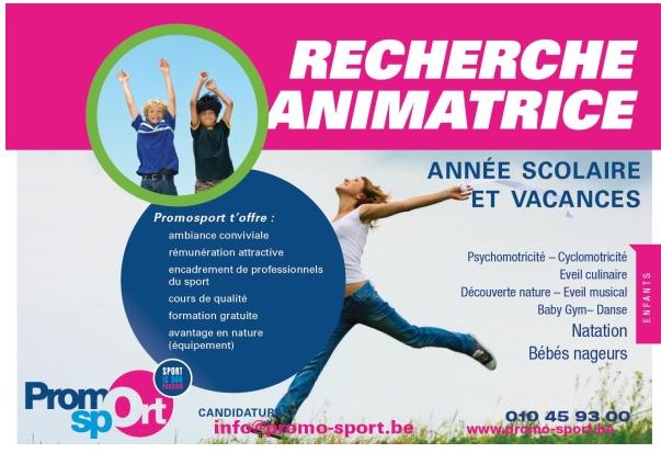 JOB Brabant wallon : Envie de travailler chez Promosport ? (Moniteurs et animatrices pour enfants)
