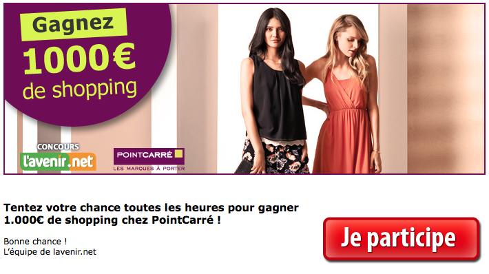 Gagnez 1000 € de shopping !