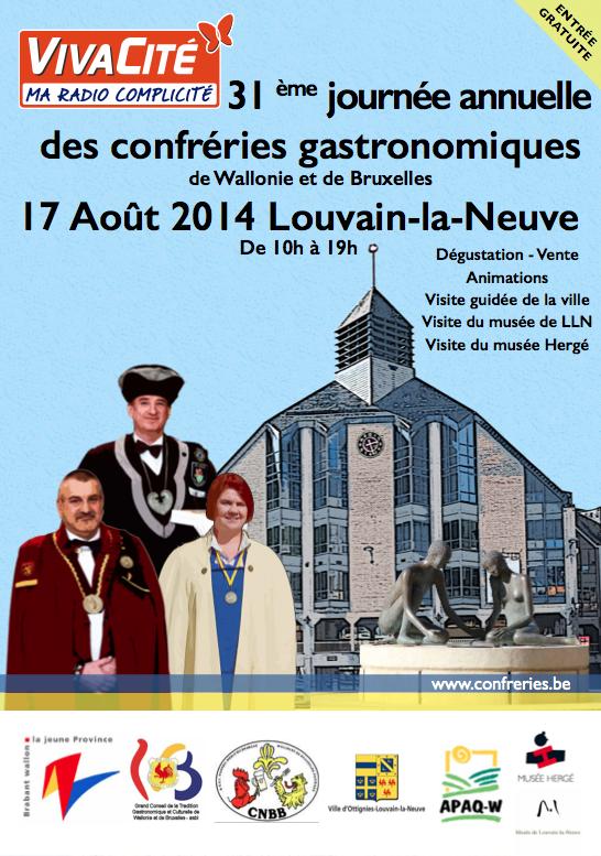 Journée annuelle des confréries à Louvain-la-Neuve ce 17 août
