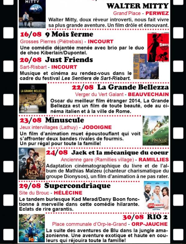 BW : Cinéma gratuit en plein air