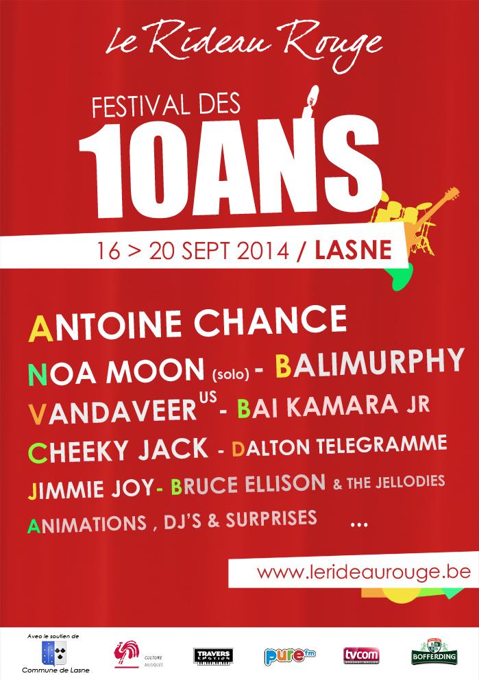 Lasne : Un festival pour les 10 ans du Rideau Rouge !