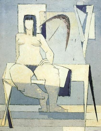 -Berthe Dubail - « Yan »- 3ème version- 1954- huile sur toile- 130 x 110 cm-  Musée de Louvain-la-Neuve (Donation Serge Goyens de Heusch).