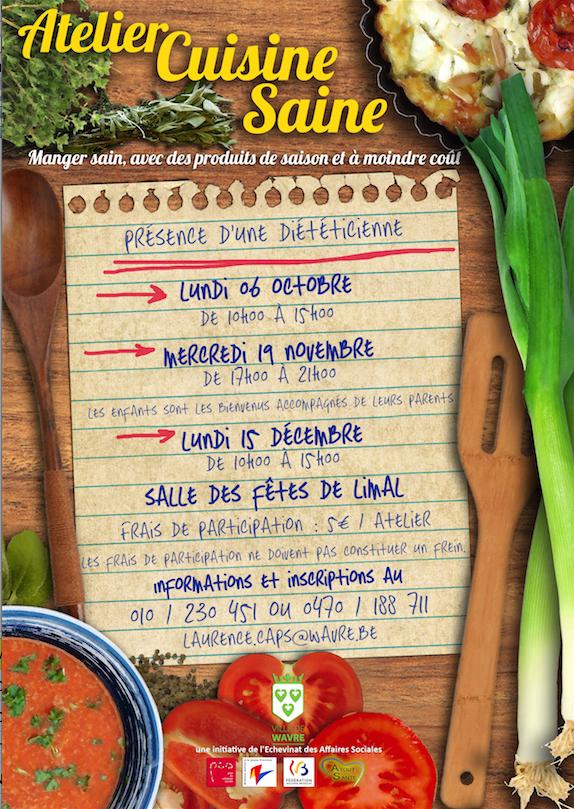 « Atelier Cuisine Saine » pour les Wavriens !