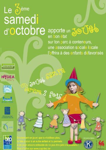 12ème collecte de jouets dans les parcs à conteneurs de Wallonie samedi 18 octobre 2014