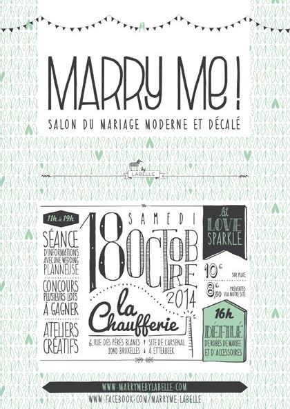 Marry Me ! Le salon du mariage moderne et décalé.