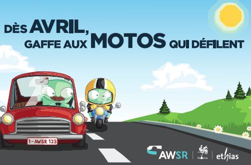 NOUVELLE CAMPAGNE DE SECURITE ROUTIERE   « Dès avril, gaffe aux motos qui défilent ! »