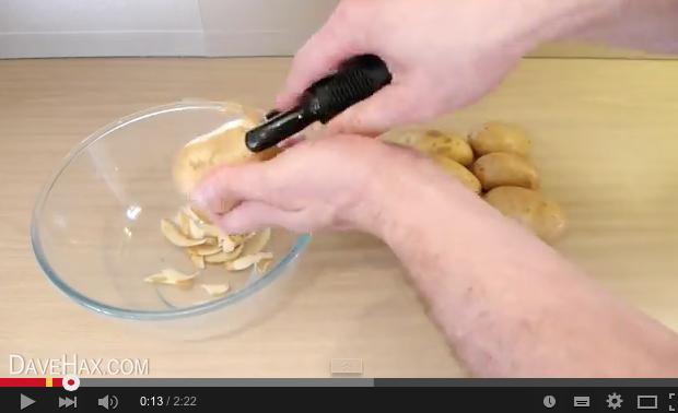 Comment éplucher une patate en 5 secondes ?