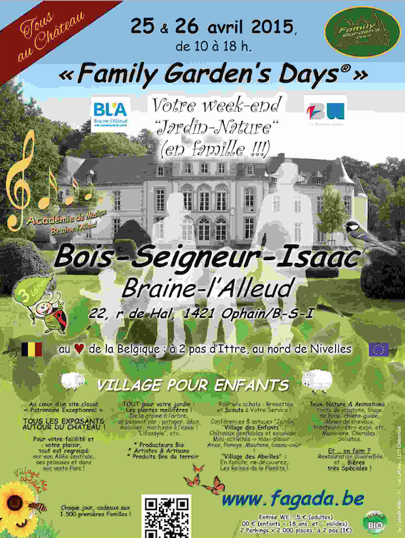 Les 25 et 26 avril 2015 : « Family Garden's Days ® » !