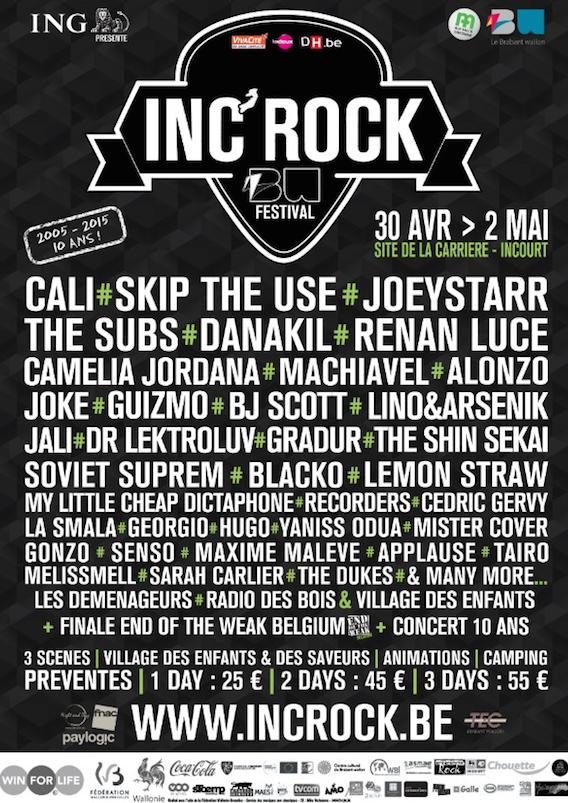 LES 10 ANS DE L'INC'ROCK FESTIVAL