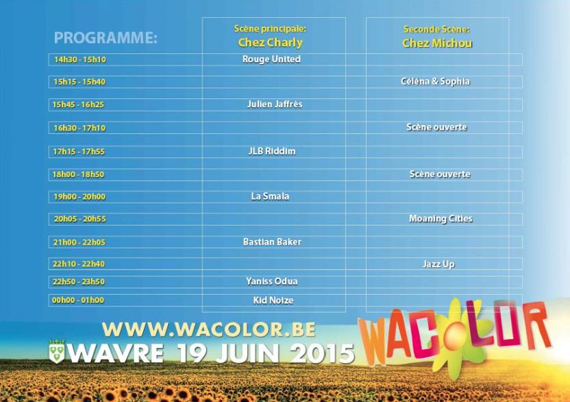 WACOLOR 2015 : LA FÊTE SE PRÉPARE !