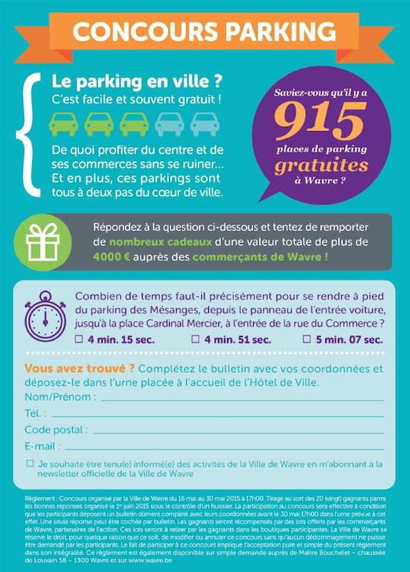 Concours « Parkings Gratuits » Remise des prix aux gagnants