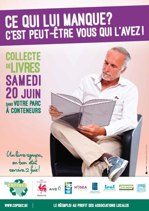 1ère collecte de livres dans les parcs à conteneurs de l'IBW (samedi 20 juin 2015) !