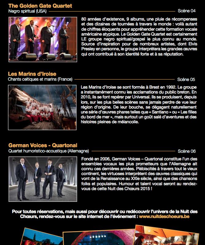 Villers La Ville :  Nuit des Choeurs 2015