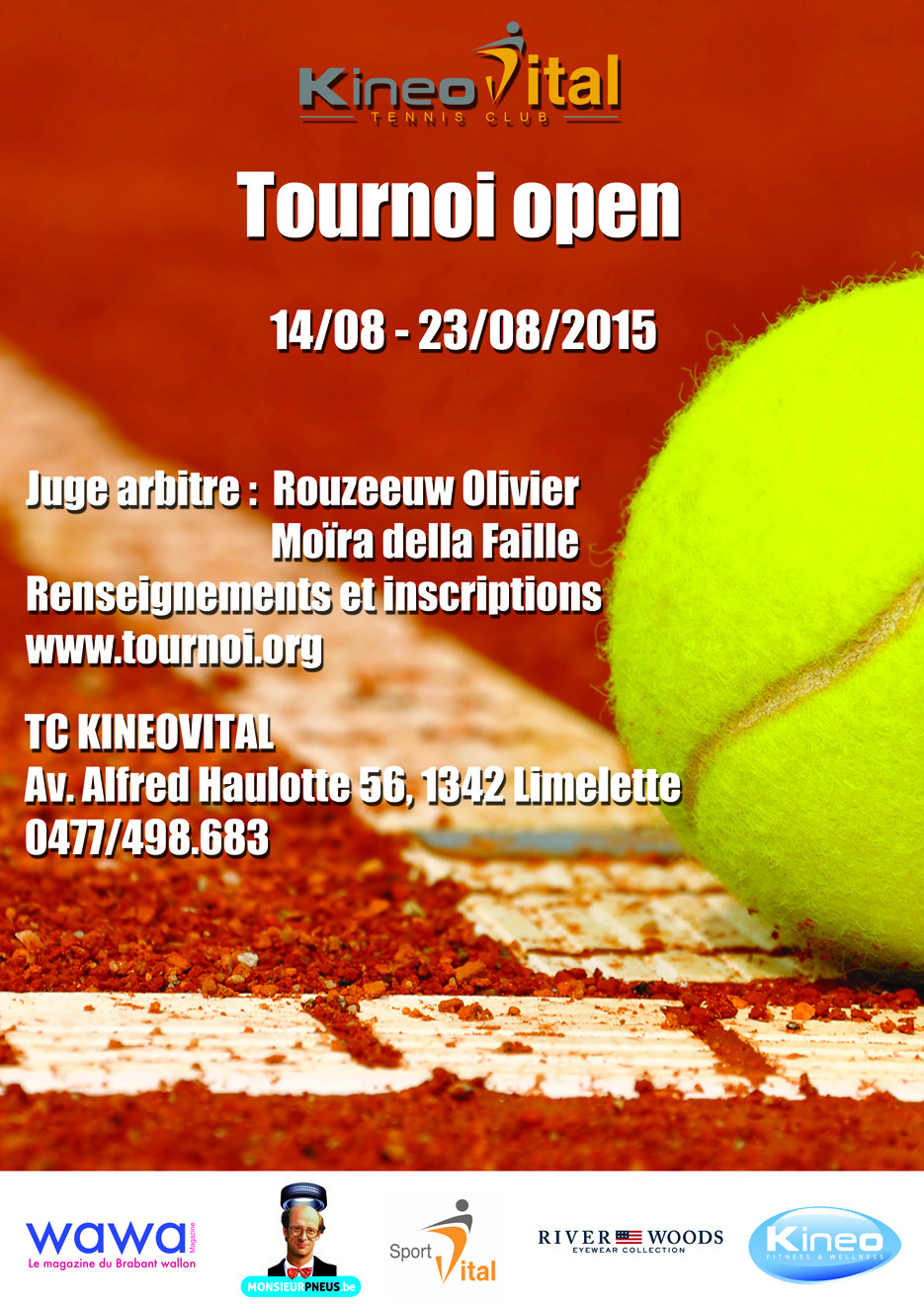 Tournoi Tennis open Kineo Vital