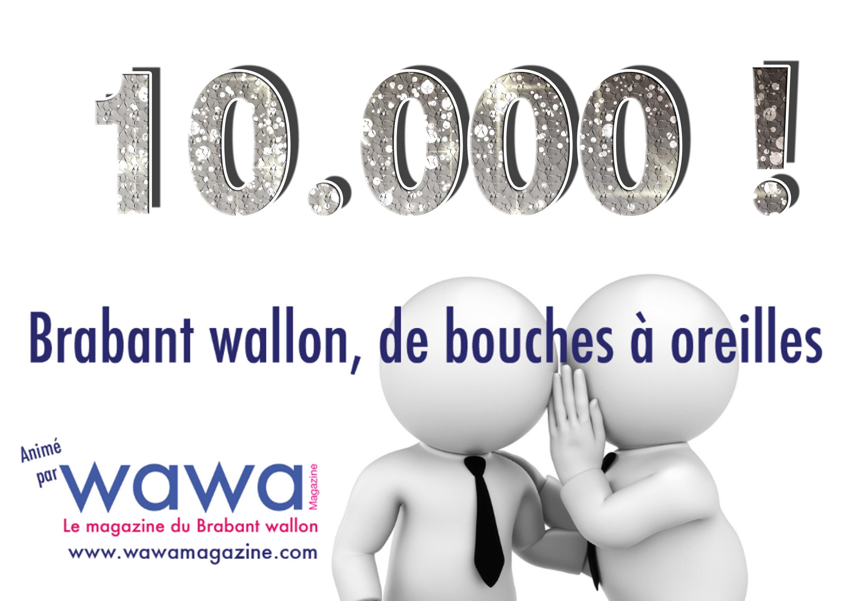 """10.000 membres dans le groupe Facebook """"Brabant wallon de bouches à oreilles"""" !"""