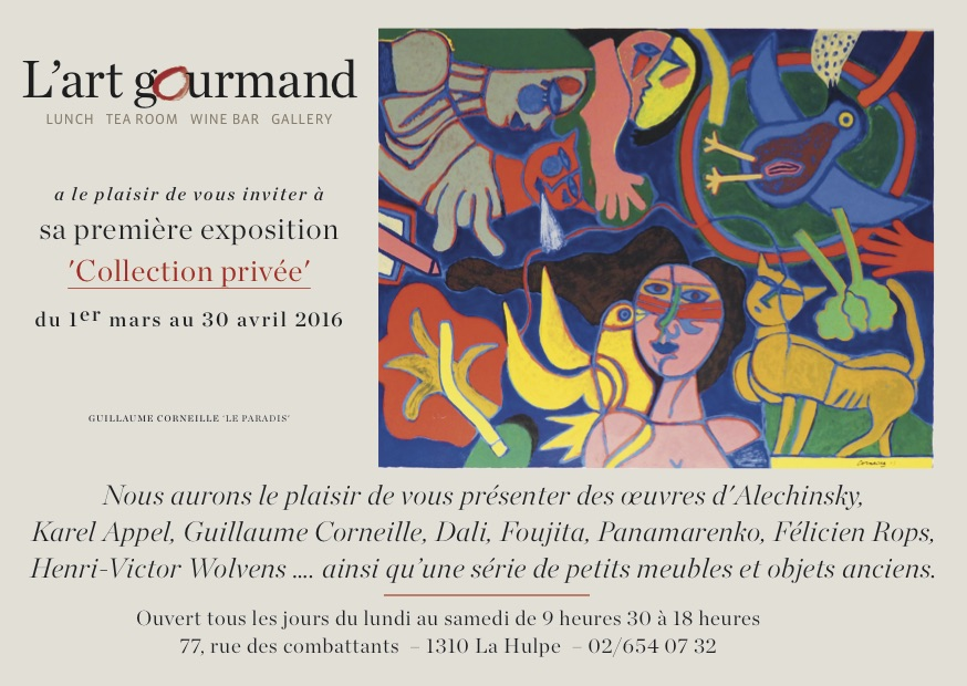 "La Hulpe : Expo, ""Collection Privée"" (Alechinsky, Karel Appel, Guillaume Corneille, Dali, etc.)"