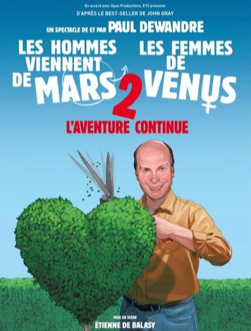 Nivelles : « Les hommes viennent de Mars et les femmes de Vénus 2 » - « L'aventure continue »