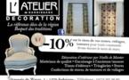 L'atelier de garnissage   PROMO : 10% de réduction sur les tissus !