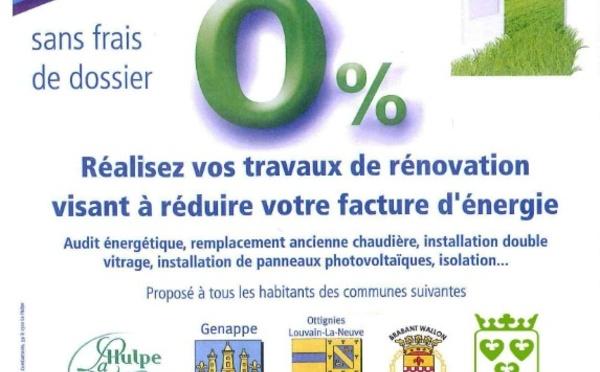 WAVRE adhère au FRCE - Prêts à taux 0% pour les habitants